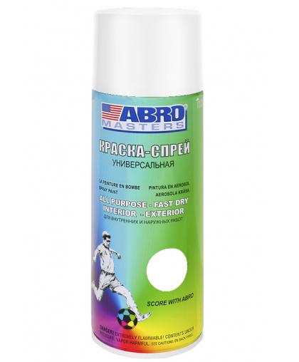 ABRO MASTERS Краска универсальная белая глянцевая аэрозоль 226гр SP-016-AM SP016AM