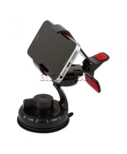 Держатель телефона/навигатора 0-135 мм. на лобовое стекло/панель черный ARNEZI A0602007