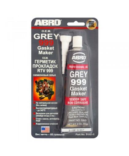 ABRO Герметик прокладок 999 серый 85гр (12)