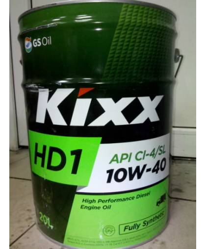 Kixx D1 10W40 (HD1 CI-4/SL 10W40) 20л синт
