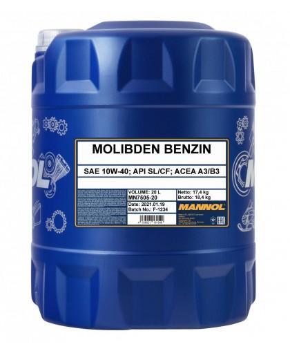 MANNOL Molibden Benzin 10W40 20л 1188