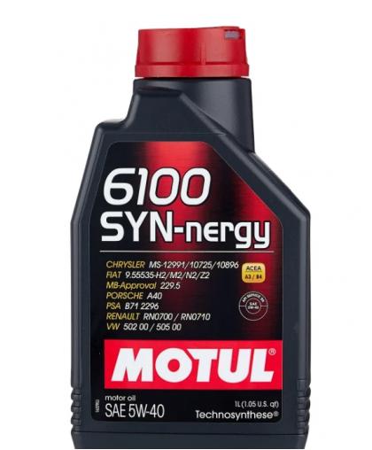 MOTUL 6100 Syn-nergie 5W40 1л 107975