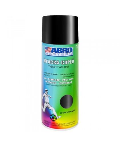 ABRO MASTERS Краска универсальная черная глянцевая аэрозоль 226гр SP-011-AM (12)