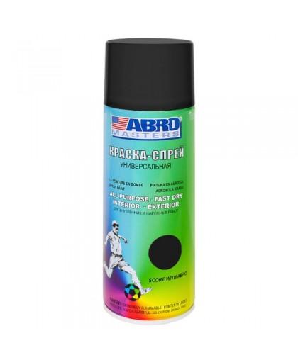 ABRO MASTERS Краска универсальная черная матовая аэрозоль 226гр SP-012-AM (12)